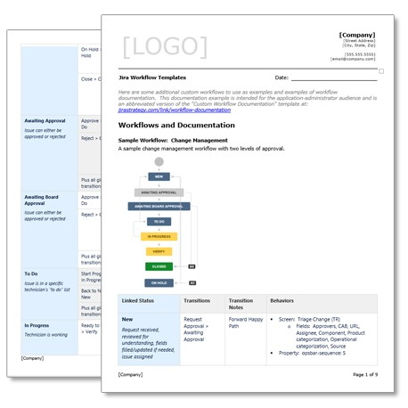 Jira Workflow Examples