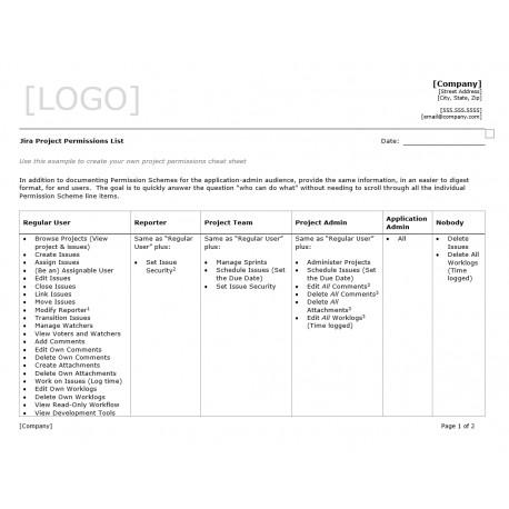 Jira Project Permissions List