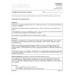 Consulting Communication Templates