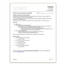 JIRA New User Communication and Checklist