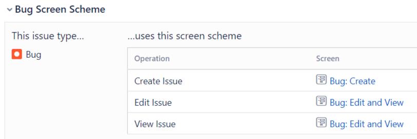 Jira Screen Scheme