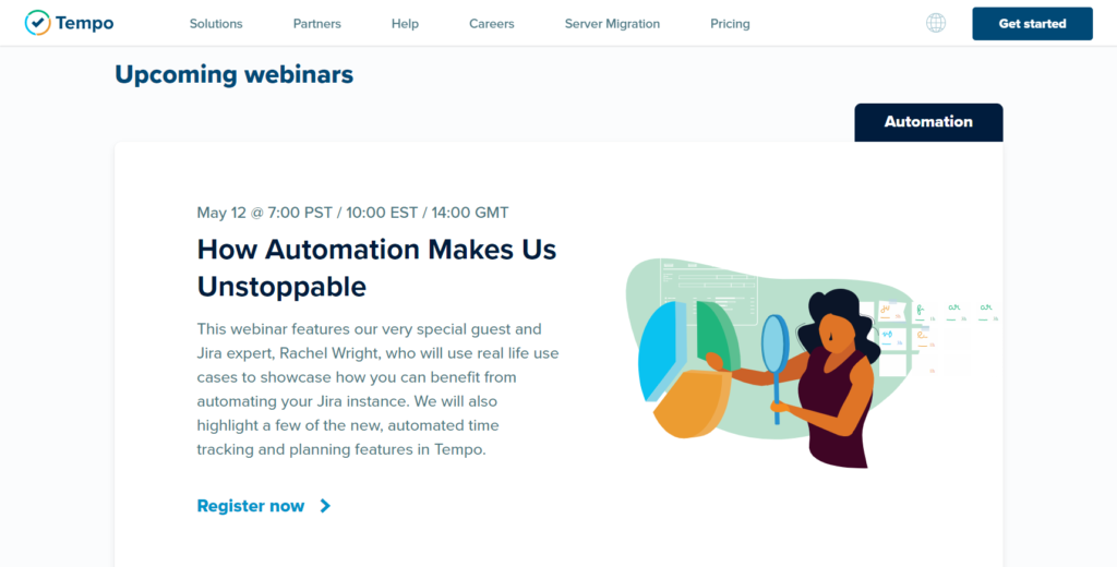 "Register free for the ""How Automation Makes Us Unstoppable"" webinar"